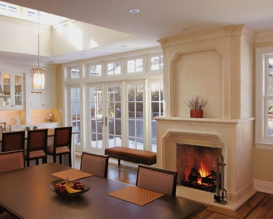 Traditional Dining Room Fireplace Mantel Design Pictures Remodel Decor And Ideas