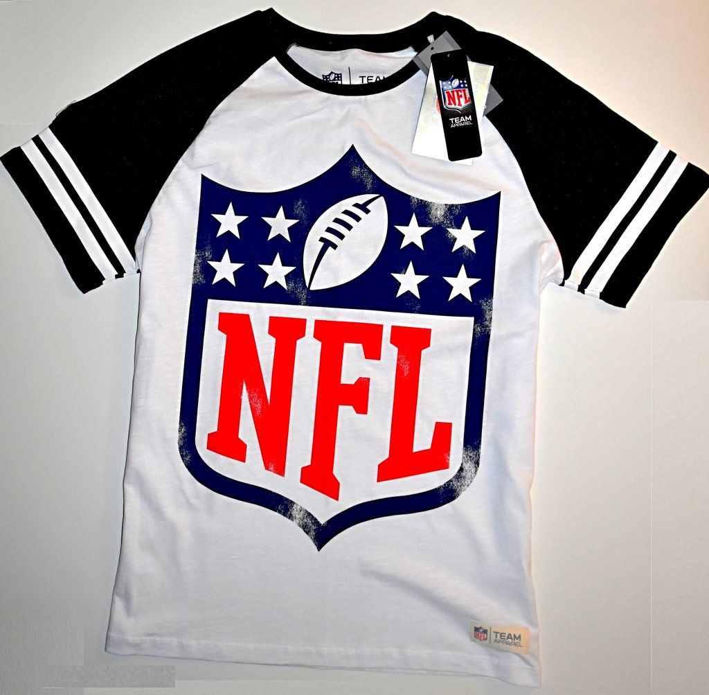 NFL T SHIRT JERSEY MENS AMERICAN FOOTBALL TU White UK Size Medium ...