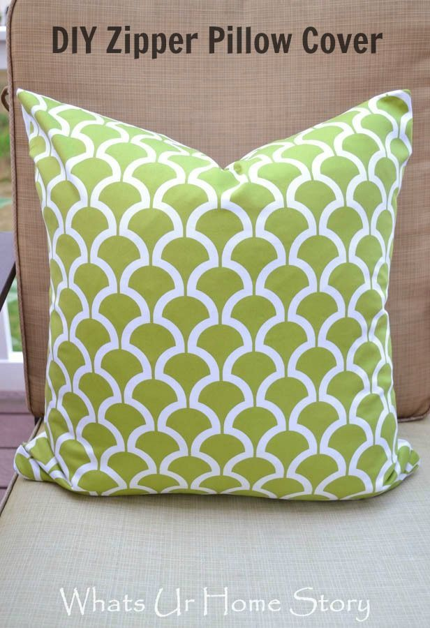 Zipper pillow cover - Whats Ur Home Story