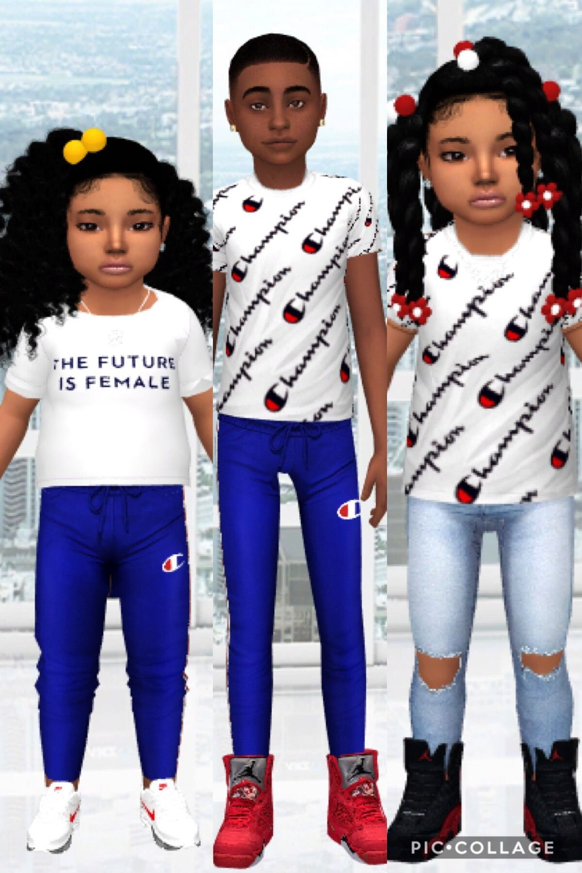 30482991b Sims 4 Interior and Architecture — simlocker: -Champion Shirt & Joggers For  Kids and.