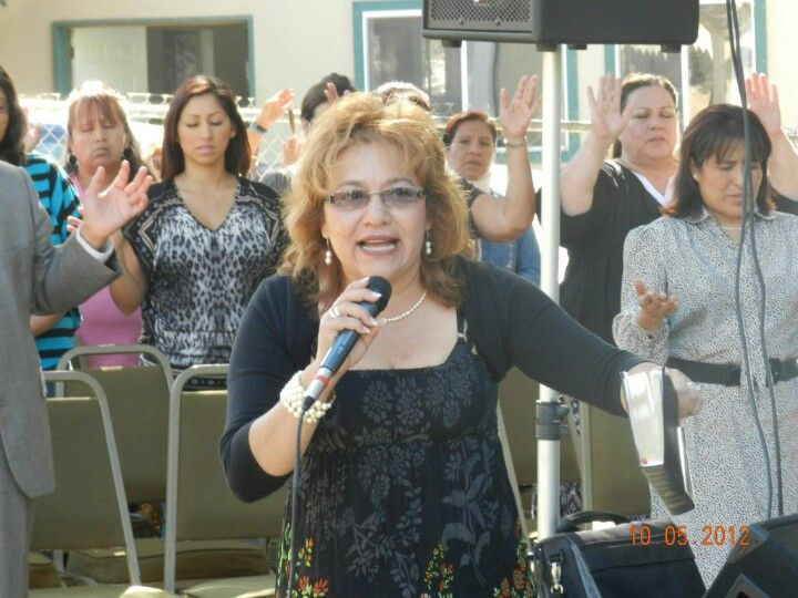 My friend Pastor Isabel Pleitez preaching the word of GOD