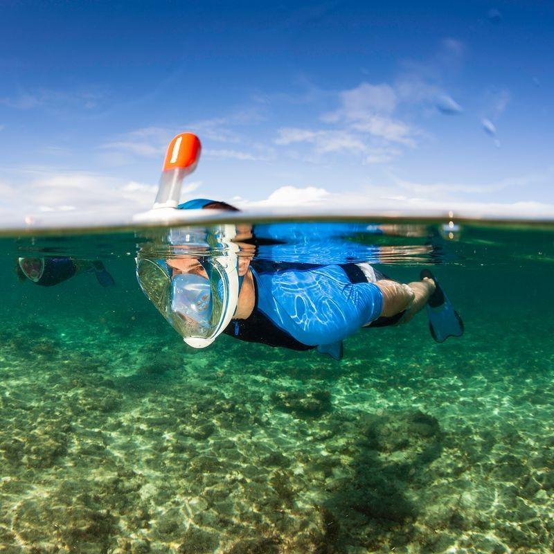 de9068143 Máscara de snorkel en superficie Easybreath azul