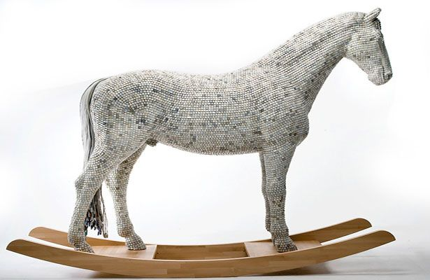 Made out of keyboard keys - The modern day Trojan Horse by Babis Panagiotidis