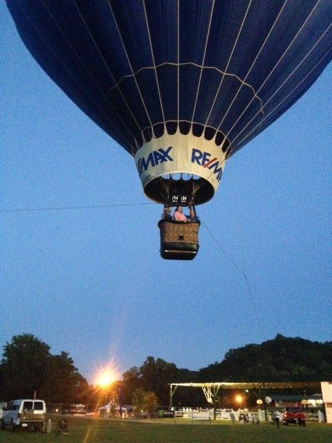Flying high at the Blue Ridge BBQ Festival on June 14, 2013.