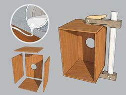 how to build a cajon with guitar strings