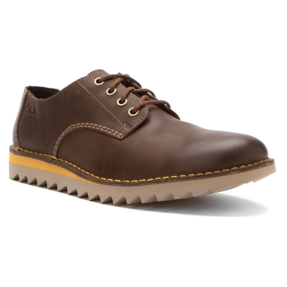 Men's Clarks Newby Fly Brown Leather 65998