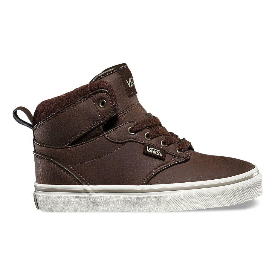 Vans Kids Atwood Hi Shoes Leather DemitasseAluminum