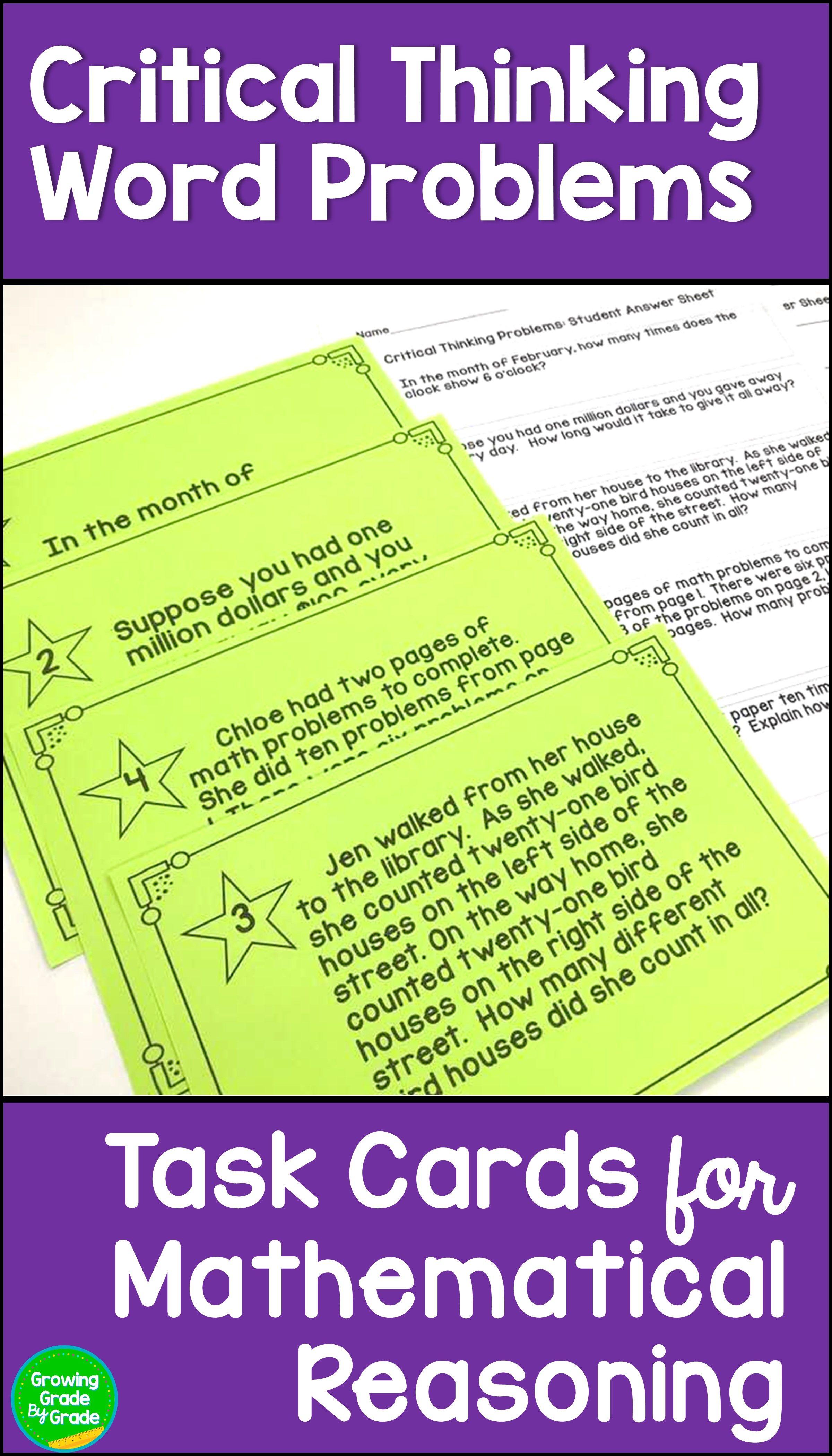 Math Critical Thinking Activities