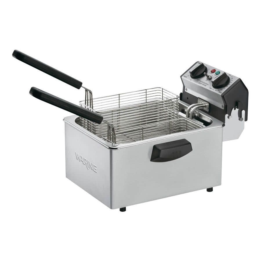 Waring Wdf75b 8 5 Lb Commercial Countertop Deep Fryer 208v