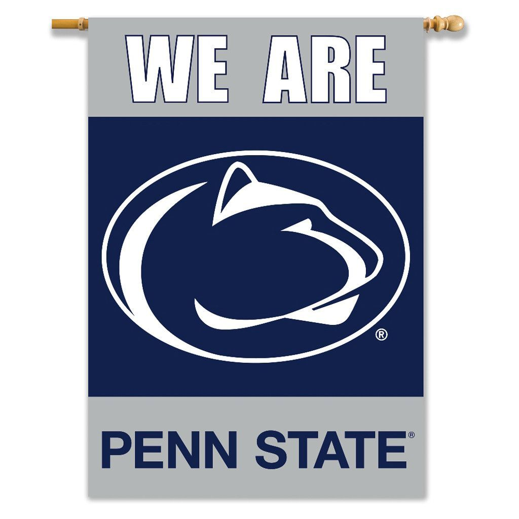 Penn State Nittany Lions 2 Sided Outdoor Banner Flag Nittany