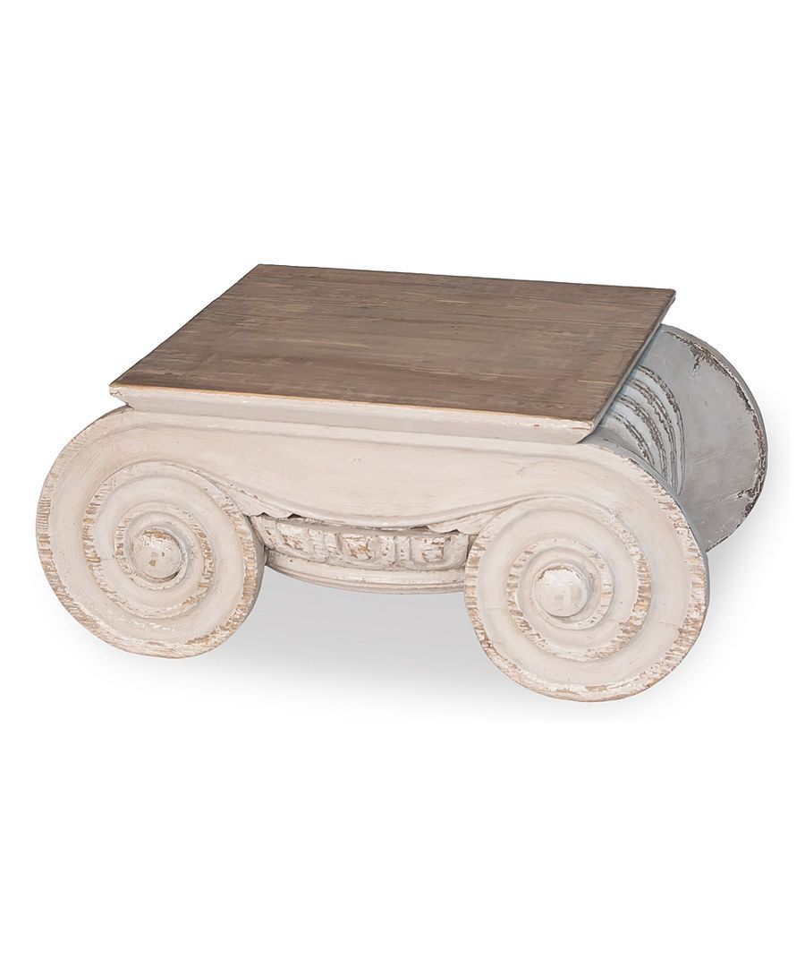 Look at this Pine Doric Capital Table on #zulily today!