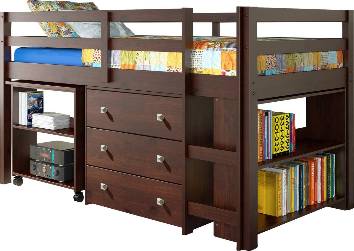 Make the most of a smaller room with this loft bed set
