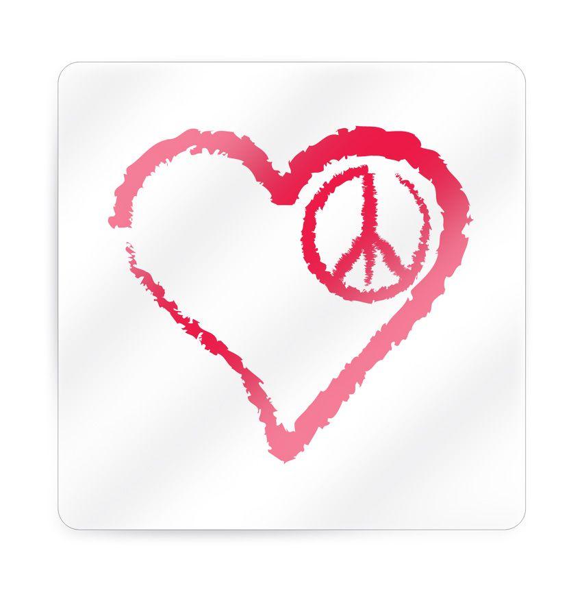 70 Cute Peace Tattoos: Peace Heart Tattoo