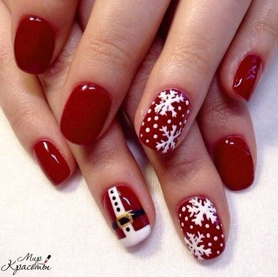 90+ Christmas Nail Art Designs Which Are perfect for the Holiday Season – Hike n Dip