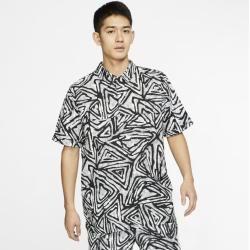 Photo of Nike Sb Men's Printed Skateboard Polo Shirt – Gray Nike