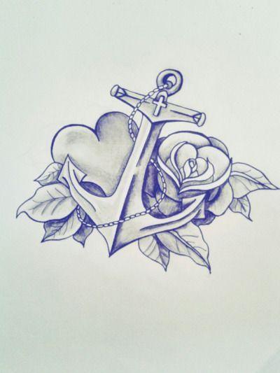 Photo of Beautiful anchor tattoo design I love the heart #Tattooideen