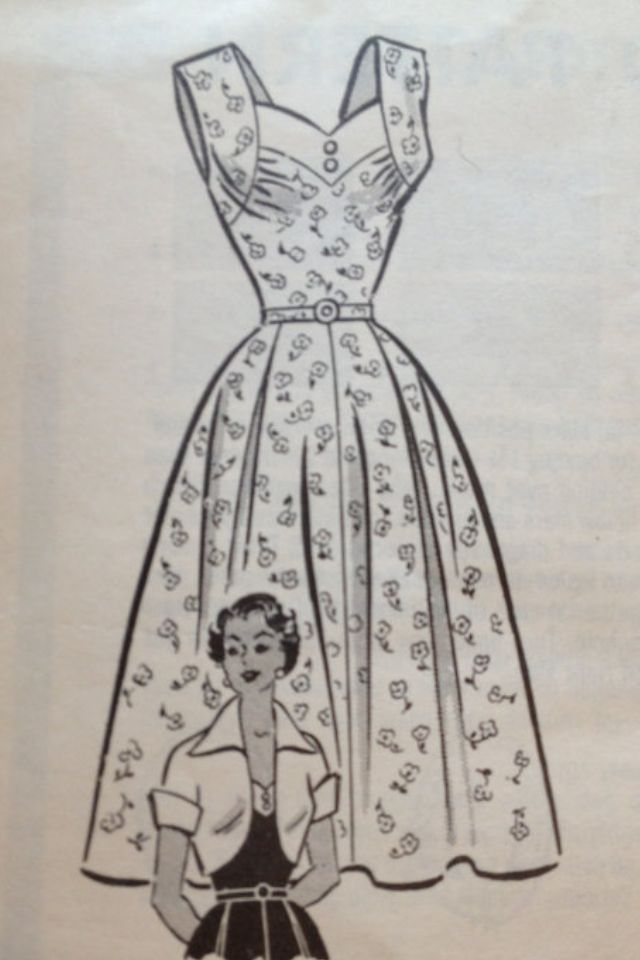 Pretty sweetheart neckline dress pattern, I think I'll make this for summer