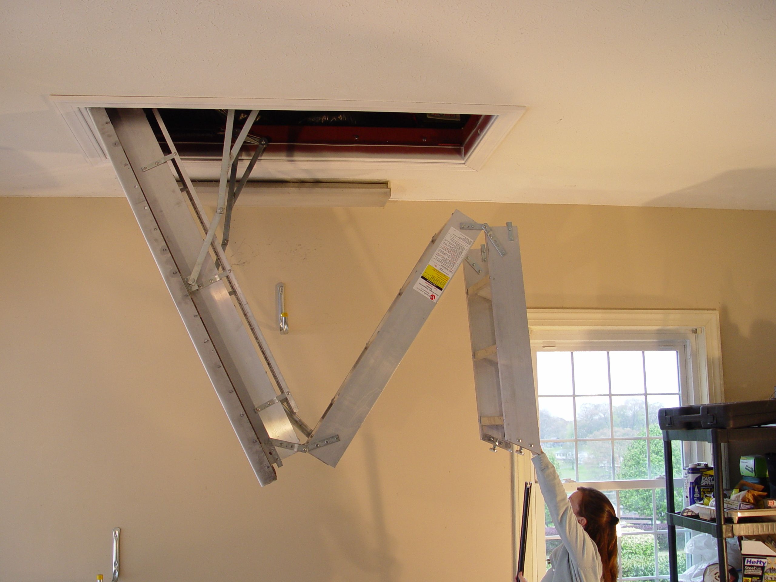 31 Automatic Attic Ladders Ideas For Your Inspiration Design My Little Think Attic Ladder Attic Stairs Pull Down Attic Renovation
