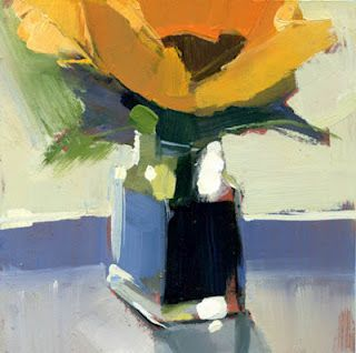 Lisa Daria has been doing a terrific series of small flower paintings.