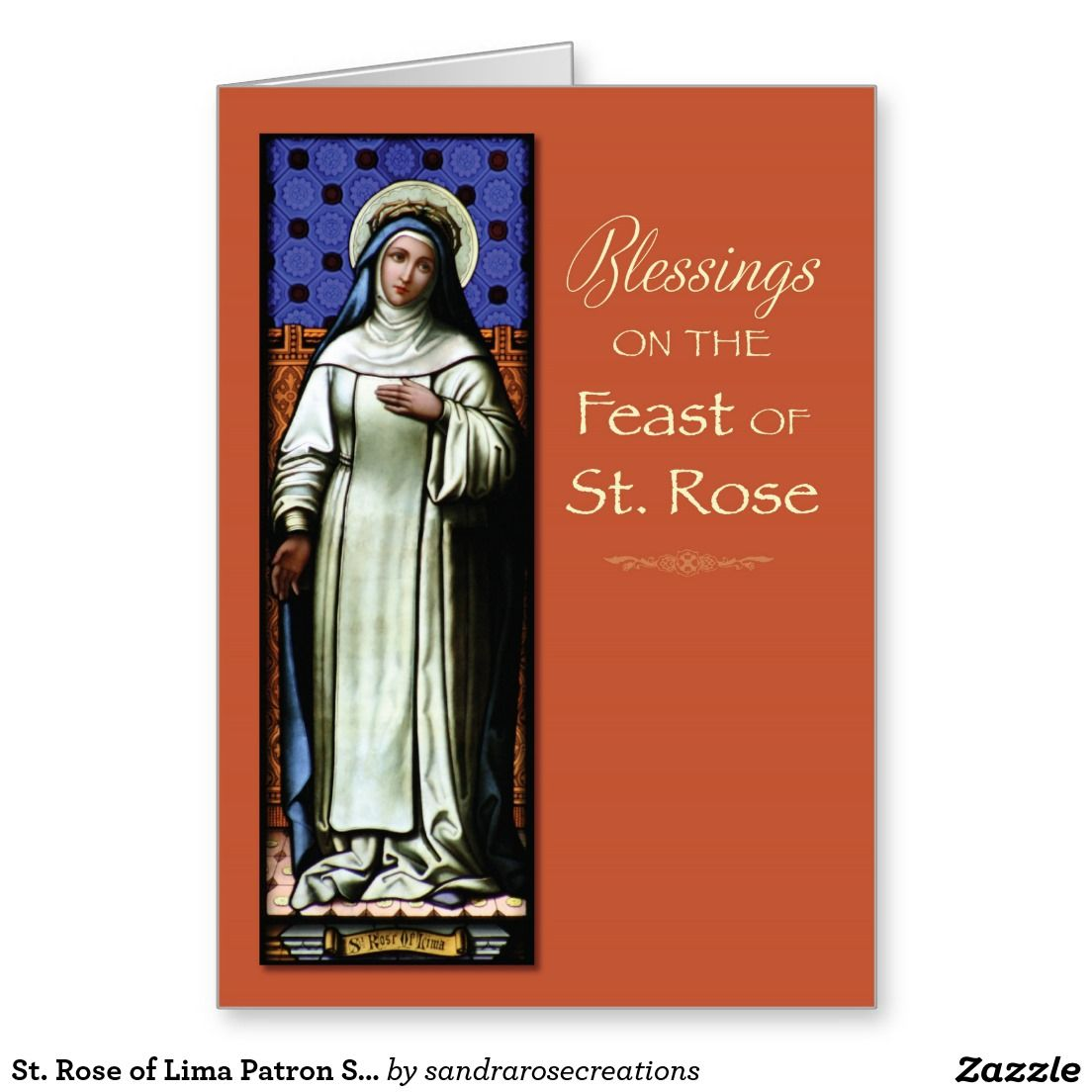 St rose of lima patron saint feast day blessings greeting card st rose of lima patron saint feast day blessings greeting card kristyandbryce Choice Image