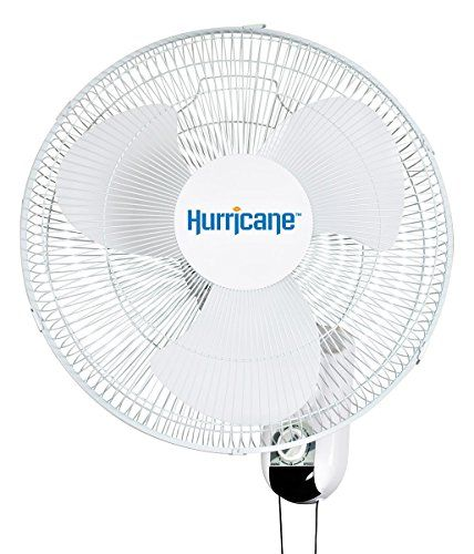 hurricane fans wall mount oscillating