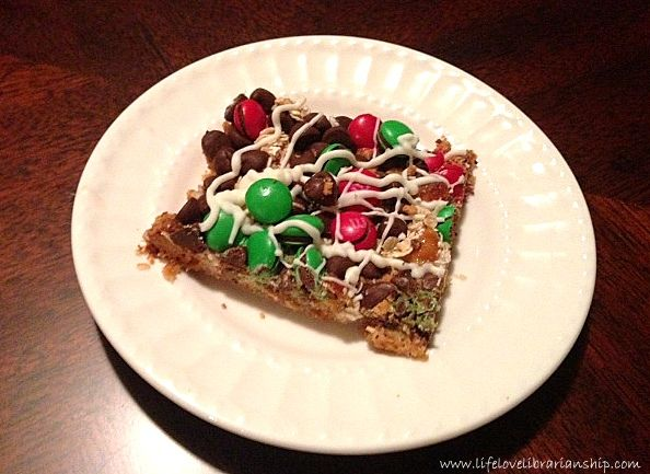12 days of christmas cookies holiday monster cookie bars - Christmas Bar Cookies