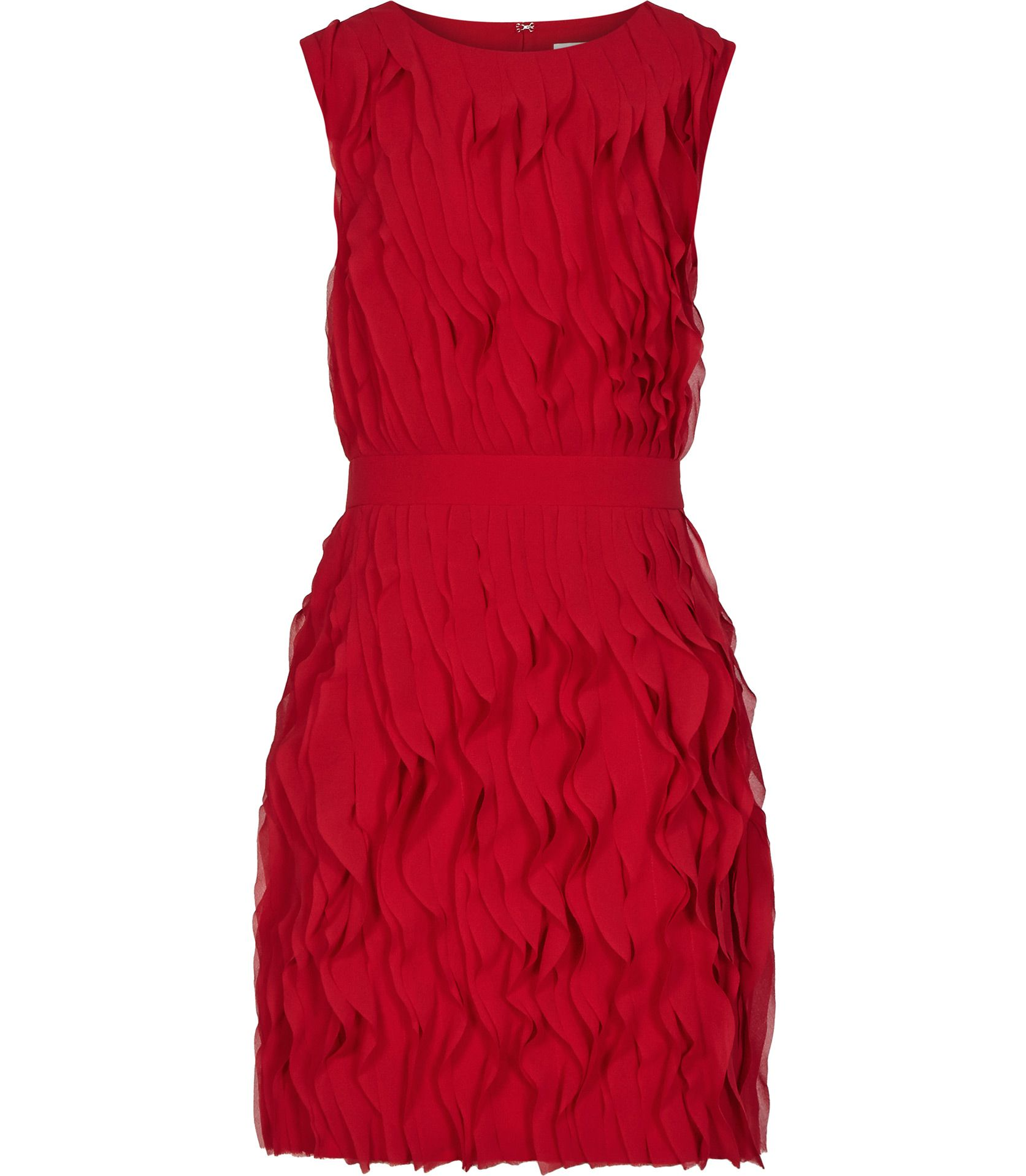 Womens Cherry Red Ruffle-detail Dress - Reiss Jasmine | Pretty ...