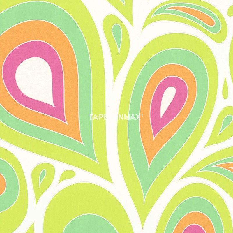 NENA u2013 Marburg Vliestapete u2013 Tapeten Nr 57201 in den Farben Grün - tapeten und farben