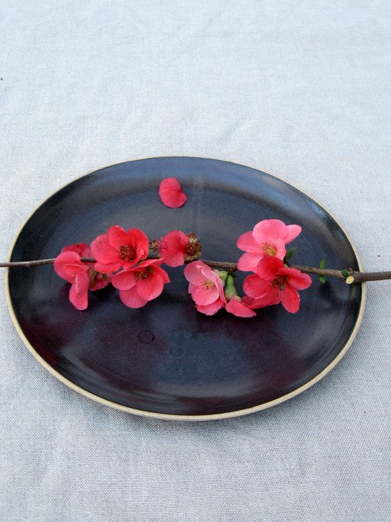 Black ceramic plate dinner plate cake plate black pottery plate ceramic plate & Ceramic Plate Black plates Cake Plate Stoneware plate Dessert ...