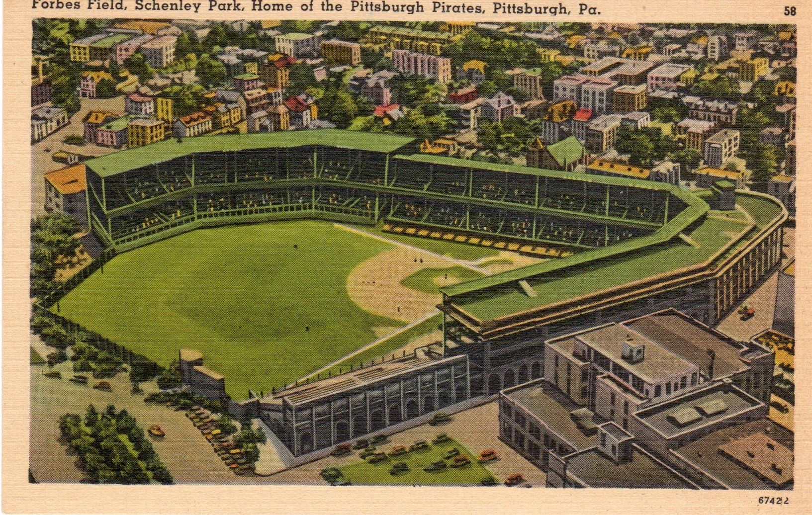 Pin On Forbes Field Postcards