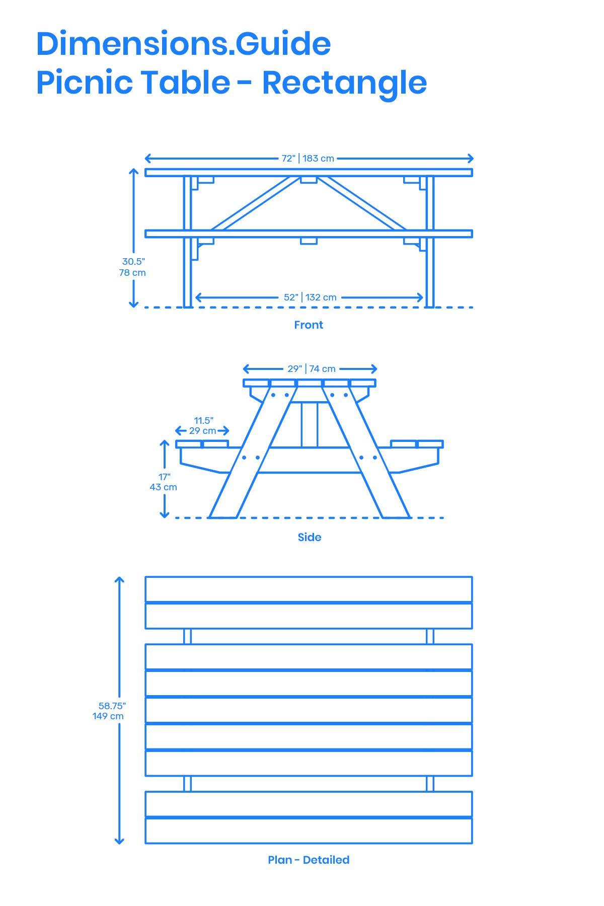 Picnic Table Rectangle Picnic Table Interior Design Renderings Diy Garden Furniture