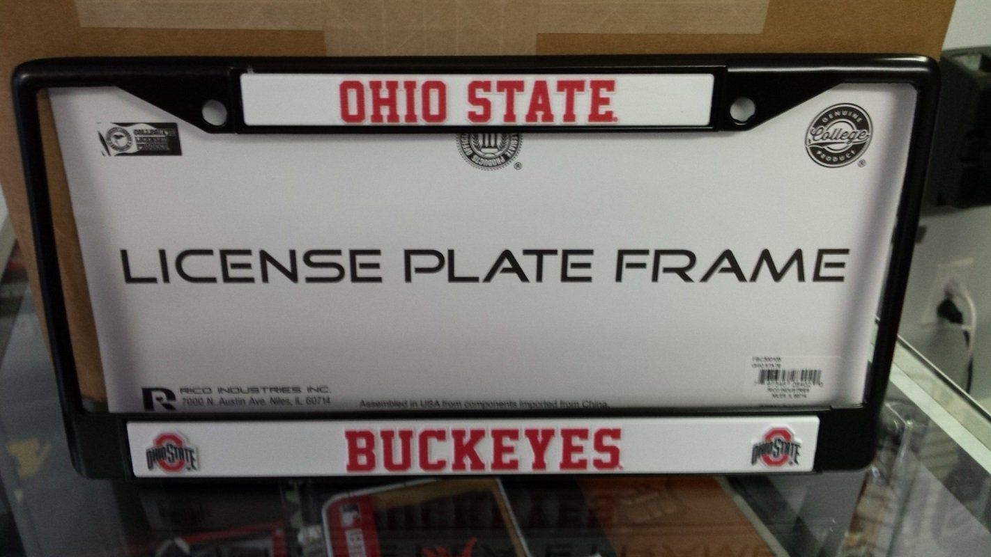 NCAA Ohio State Buckeyes Black Chrome License Plate Frame | Products ...