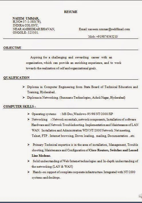 how make a cv Sample Template Example ofExcellent CV \/ Resume - computer engineer sample resume