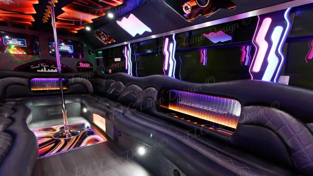 Party Bus Conversions, Chicago, ELC Limo Designs, Build