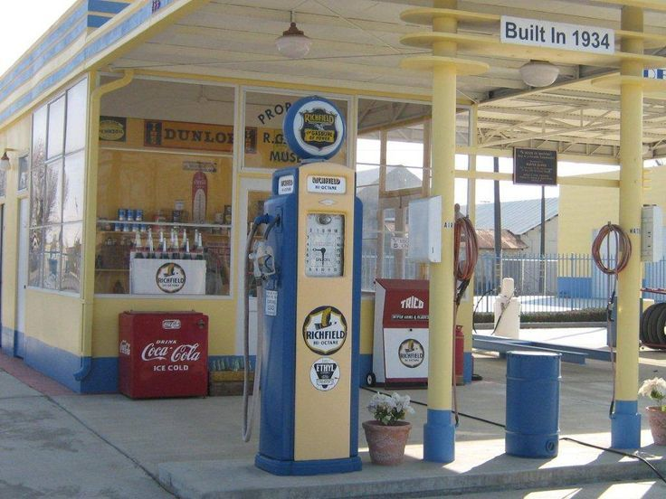 Atlantic Richfield Gas Station Built In 1934 Old Gas