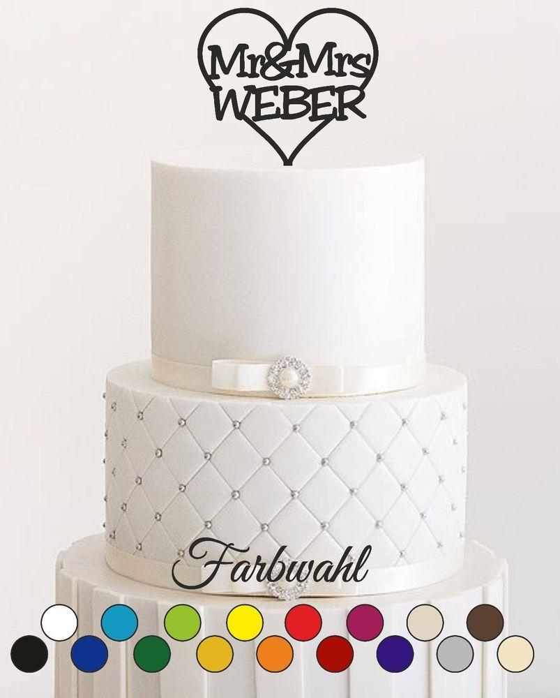 Details Zu Wunschnamen Tortenstecker Hochzeit Personalisiert Cake