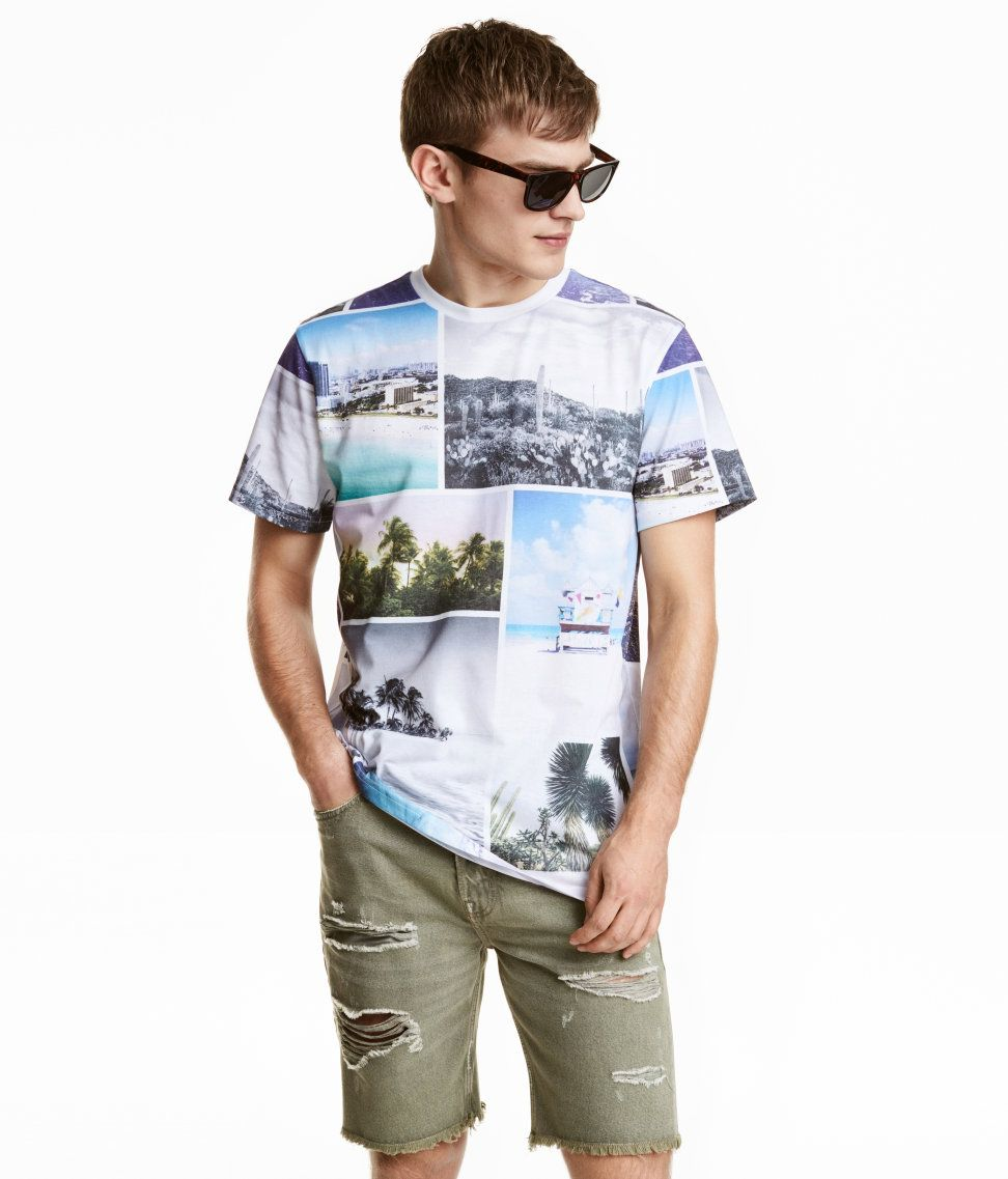 T-shirt with Printed Design | H&M Divided Guys | DIVIDED ...