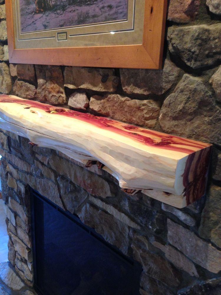 5 Red Cedar Fireplace Mantel Beam Log Rustic Juniper Handpeeled