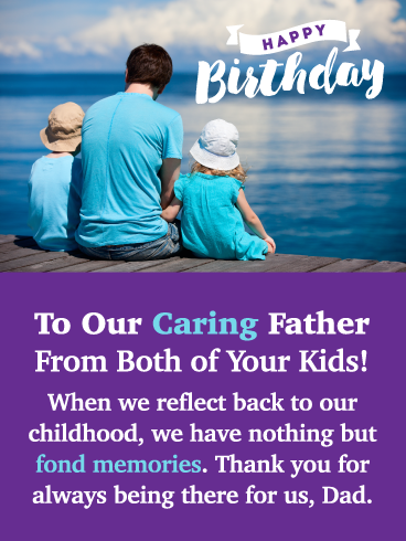 Fond Memories Happy Birthday Card For Father From Us Birthday Greeting Cards By Davia Happy Birthday Cards Birthday Cards Birthday Greeting Cards