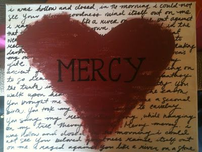 """Inspired by: """"Mercy"""" by Drew Holcomb and the Neighbors (Drew and Ellie Holcomb) custom painting ..."""