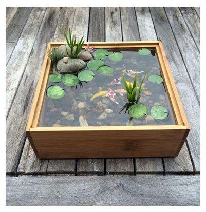 model kolam ikan mini   indoor water garden, patio pond