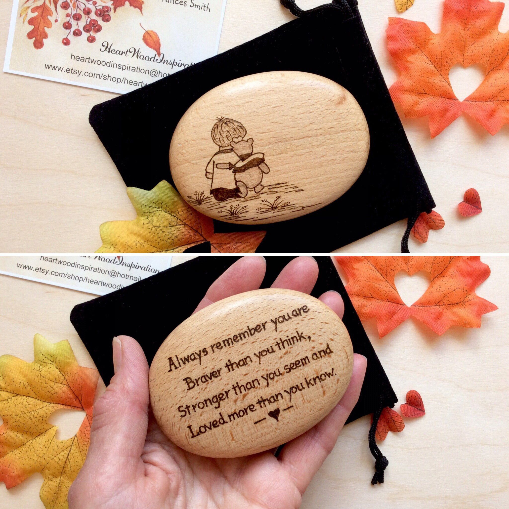 Fathers Day Winnie The Pooh Personalise 18th 21st Birthday Gift For Her Him Best Friend Dad Mum Send Love Message By HeartWoodInspiration On Etsy