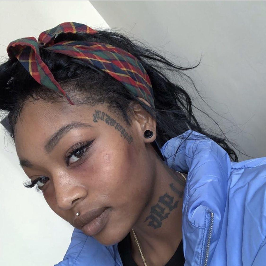 summerwalker Face tattoos for women, Black girls with