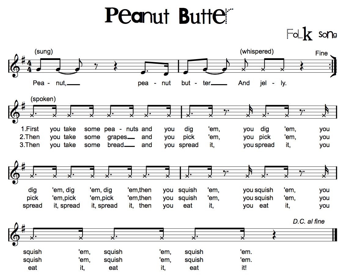Beth S Music Notes Peanut Butter