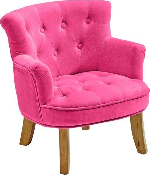 Dekorativer Kindersessel in Pink - ein echt herrschaftliches Sitzmöbel