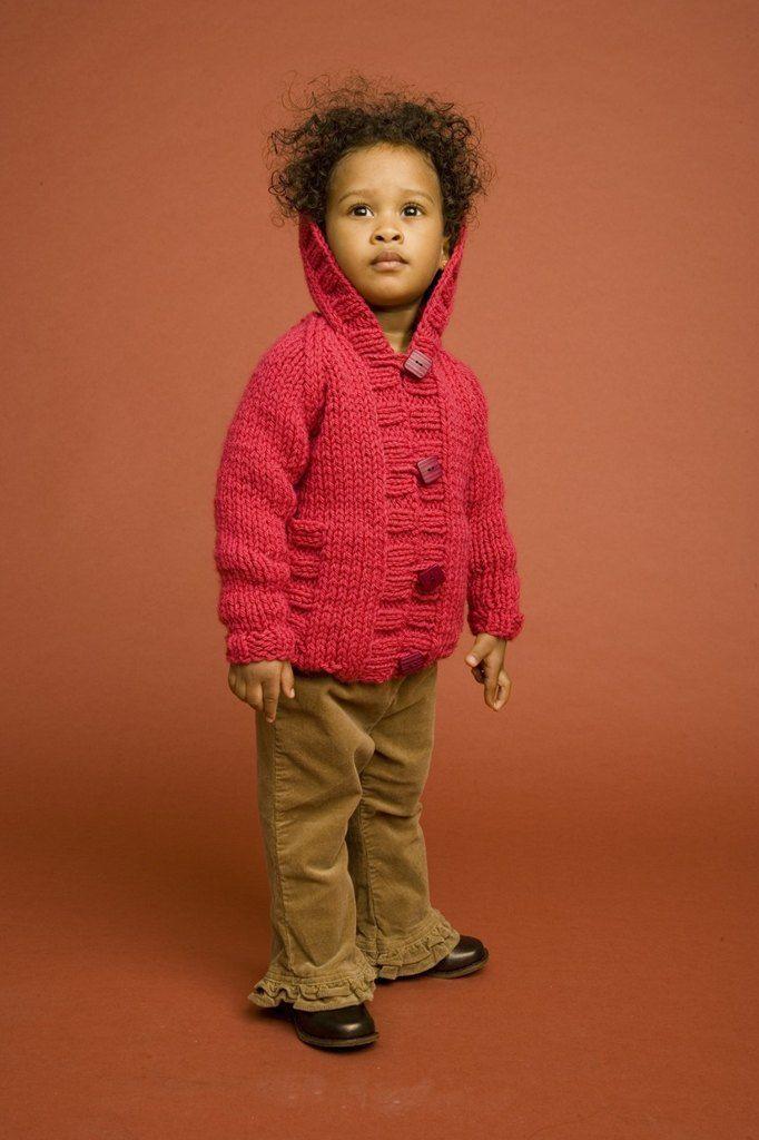 Knit Child's Raglan Cardigan in Lion Brand Wool-Ease ...