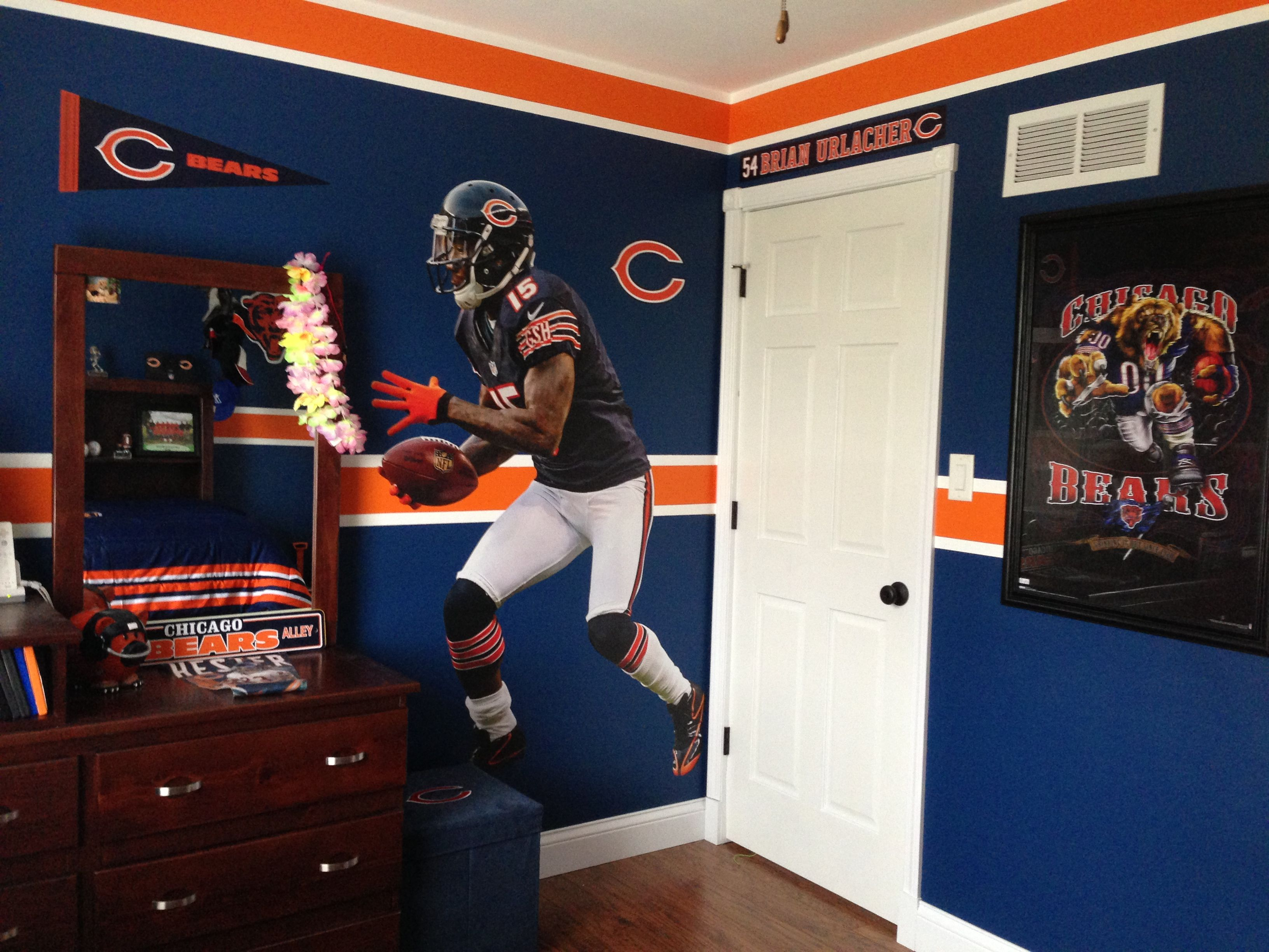 Cool My Sons Chicago Bears Bedroom Home Decor In 2019 Home Interior And Landscaping Ologienasavecom