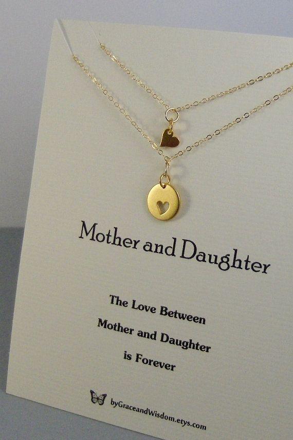 Mother DaughterNecklaceGoldGold NecklaceGold Mother Daughter
