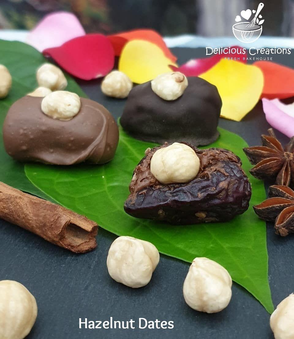 Hazelnut Dates (Chocolate coating - optional) (Available in 12pcs) 🎇🎉👩🍳🛍🎁🎊💛🌟✨