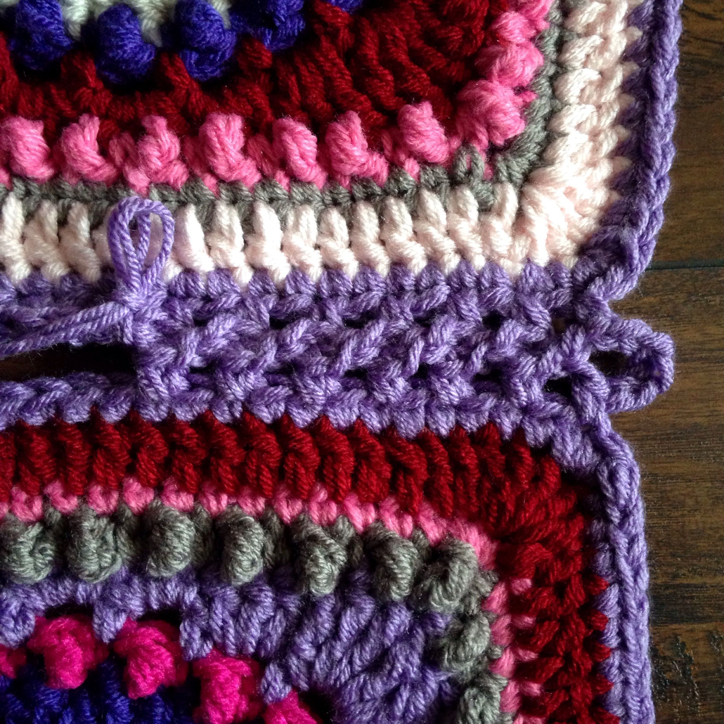 Continuous Flat Braid Join Tutorial Cypress Textiles Joining Crochet Squares Crochet Edging Crochet